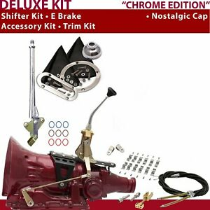 Th400 Shifter Kit 8 E Brake Cable Clamp Clevis Trim Kit For Truck Gennie Car