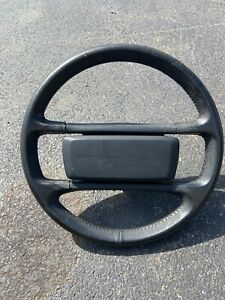 Porsche 944 951 Steering Wheel Black Leather Late Car 1985 5 And Up