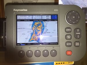 Raymarine A50 Fish Finder GPS Unit Chart Plotter Display with US & Bahamas Chart