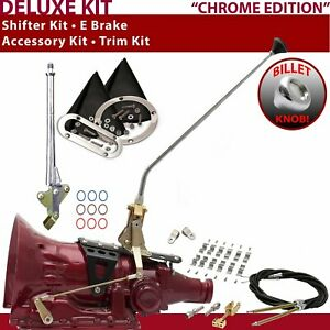 C4 Shifter Kit 23 E Brake Cable Clamp Clevis Trim Kit For Truck Gennie Chev