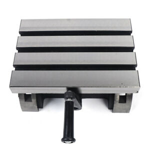 Adjustable Tilting Table Swivel Angle Plate Metalworking For Milling Machine Us