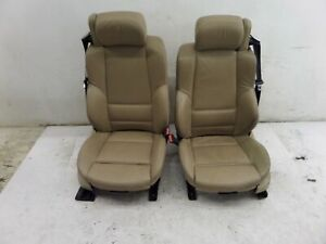 Bmw 330i Front Convertible Sports Seats Tan Beige E46 00 06 Oem Memory