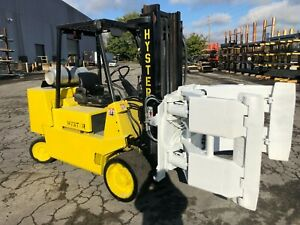 12 000 Pound Hyster Roll Clamp Truck Model S120xls W 60 Cascade Clamp