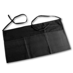 3 Packwaist Apron With Pockets 12 X 26 Black Restaurant Linen Store easy Care
