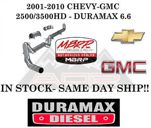 Mbrp 4 Exhaust For 2001 2010 Duramax 6 6l Lb7 Lly Lbz Lmm 08 10 Race S6004plm