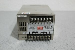 Mean Well Sp 500 24 100 240vac Input 24vdc 20a Output Adjustable Power Supply