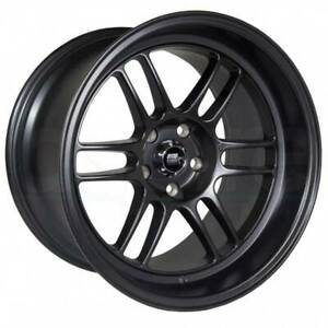 4 new 18 Mst Suzuka Wheels 18x9 5 18x11 5x114 3 12 10 Matte Black Staggered Rim