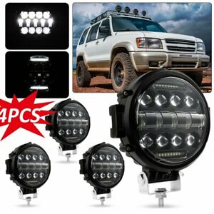 4x 7 inch 210w Round Off Road Drl Led Work Lights For Jeep Bumper Truck Boat Suv