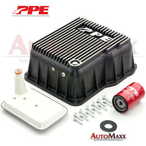 Allison Transmission Deep Aluminum Pan Upgrade Kit From Ppe Duramax Chevy Gmc Fits Gmc