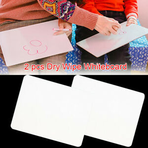 2pcs set Kids Study Durable Student Home Numeracy Learning Dry Wipe Whiteboard