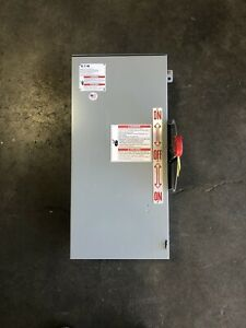 Square D Dt321urk 30a 240v 3ph Nema 3r Non fused Safety Switch 1275