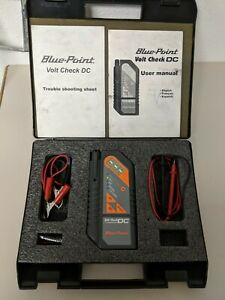 Blue point Mtvoltdc Volt Check Dc Tester In Case With Leads And Manual