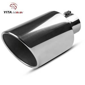 Yitamotor 4 Inlet 8 Outlet Diesel Exhaust Tip Bolt On 15 Long Stainless Steel