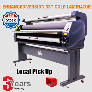 Enhanced Version 63 Heat Assisted Wide Format Cold Laminator Laminating Machine