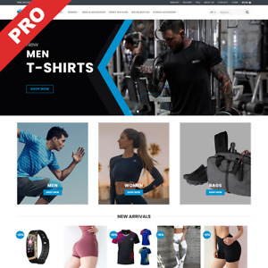 Sport Fitness Store Dropshipping Website Turnkey Business For Sale