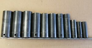 Snap On Impact Sockets Deep 1 2 Drive 6 Point Sae 11pc Socket Set