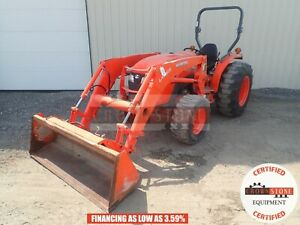 2015 Kubota Mx4800 Loader Tractor 2 Post Rops 4x4 3 Point 540 Pto 740 Hours 49hp