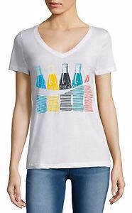Coca-Cola Olympics T-Shirt Tokyo Glass Bottles Coke - Women's L XL - New w/Tags!