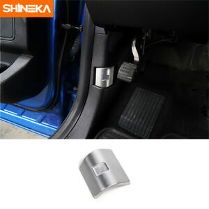 Engine Hood Switch Button Cover Trim For Ford F150 2009 2019 Silver Accessories