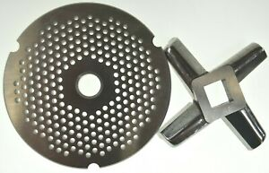 32 X 1 8 Fine Stainless Meat Grinder Plate Heavy Duty Knife For Hobart Biro