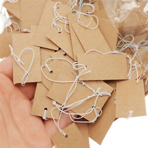 1000pcs Brown Price Tag 4x2cm Jewelry Price Tags Rectangle Hang Tags Display
