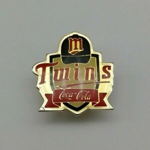 Vintage 1990 Minnesota Twins Major League Baseball (MLB) Coca-Cola Pin Badge