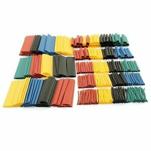 328pcs Set 2 1 Polyolefin Heat Shrink Tubing Tube Sleeve Wrap Wire Assortment