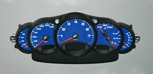 Porsche 911 996 Carrera Cluster Overlay1998 2005 Speedometer Red Blue Yellow