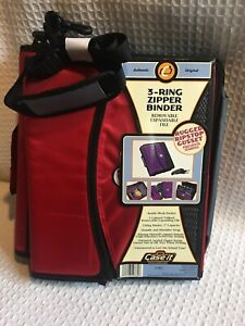 Case It 3 Ring Zipper Binder Removable Expandable File Red Black New