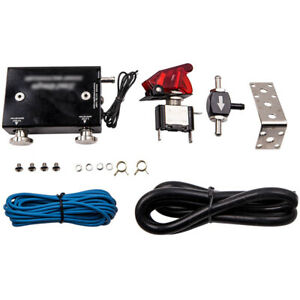 Black Dual Stage Electronic Turbo Turbocharger Psi Boost Controller W Switch