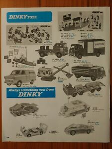 1967 Vintage PAPER PRINT AD DINKY toys diecast Coca Cola lorry police Ford Shell