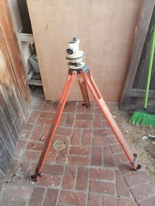 David White Auto Level transit Alp6 18 With Case Tripod