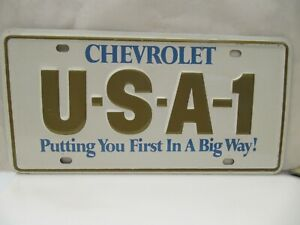 Nos 1970 s Chevrolet Usa 1 Steel License Plate Camaro Chevelle Impala Nova Ss