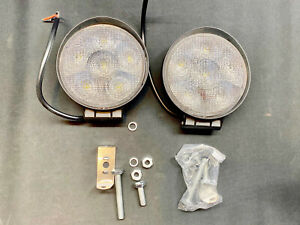 2pcs Led Work Light Spot Lights For Truck Off Road Tractor Atv Round