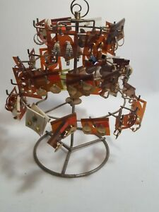 Vintage Rotating Jewelry Earring Stand Display 13 Tall Earrings Included