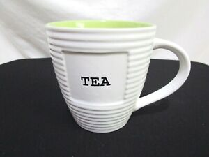 The Old Pottery Company quot;Teaquot; Oversized 18 oz Ivory Ribbed Coffee Mug Cup