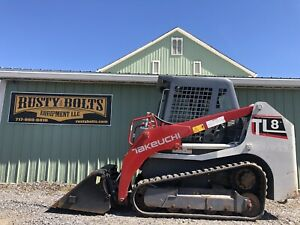 2015 Takeuchi Tl8 Compact Track Skid Steer Loader 74hp Kubota Low Cost Shipping