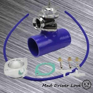 Blue Bov Blow Off Valve 30psi 2 5 Blk Silicone Coupler Kit Universal For Supra