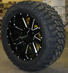20x10 Ion 141 33 Mt Mtx Black Wheel Tire Package 8x170 Ford Excursion F250 F350