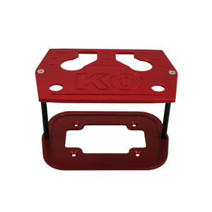 Polished Aluminum Billet Milled Hold Down Battery Bracket Tray For Optima Red