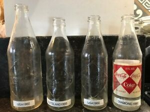 4 Coca Cola Diamond Bottles USA and Germany