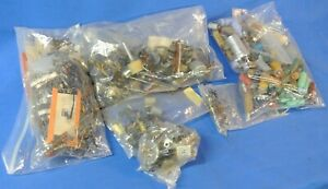 Lot Of Electronic Components Resistors Capacitors Switches Potentiometers