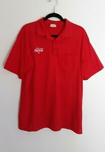 BB Hartwell Coca Cola Polo Golf Shirt Mens Size Large L Red