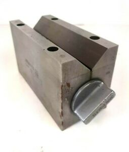 Brown And Sharpe Large Magnetic V Block 750 d Toolmaker Machinist Fixture Tool