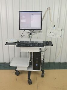 Carefusion Teca Medelec Synergy Emg Eeg System Console W Hp Computer Cart