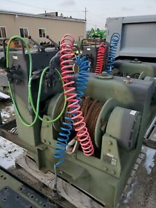 Hydraulic Winch Used Military Wrecker Hoist Cable Winch