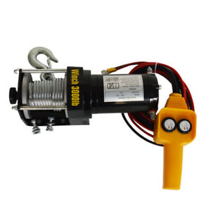 12v 3000 4500lbs Electric Winch Steel Cable Truck Trailer Towing Off Road