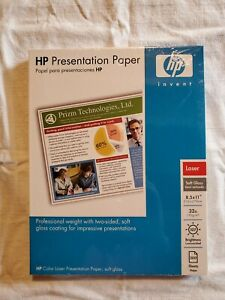 Hp Color Laser Presentation Paper Coated 2 Sides Soft Gloss 8 5 X 11 200 Sh