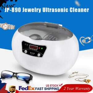 Ultrasonic Jewelry Cleaner Cleaning Machine Glasses Nail Tools Sterilizer 600ml