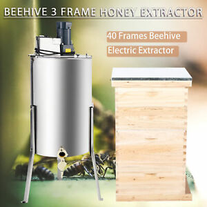 Complete Bee Hive 10 frame 2 Deep Box 2 Medium Box And 3 Frame Honey Extractor